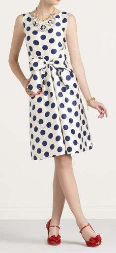Celebrities who wear, use, or own Kate Spade Polka-Dot Jillian Dress. Also discover the movies, TV shows, and events associated with Kate Spade Polka-Dot Jillian Dress. Birthday Dress Women, Birthday Dresses, Dot Dress, Dress Me Up, Dress Red, Dress Black, Dress Skirt, Vestidos Vintage, Pretty Dresses