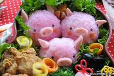 super popular a34e1 2f686 Japan s newest and kitschiest food fad is the art of the cute bento. Makiko  Ogawa sculpted three little Momobuta piglets out of colored rice, dried  seaweed, ...