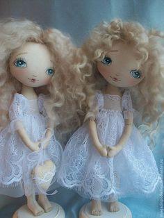Купить Интерьерная кукла Ангел-хранитель - белый, ангелочек, ангел-хранитель, текстильная кукла