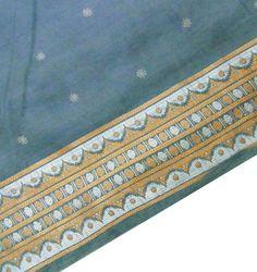 Vintage Sari Silk Blend Grey Sewing Wrap Fabric Indian Craft Deco Printed Saree Women Dress -IPS2628. $12.99, via Etsy.
