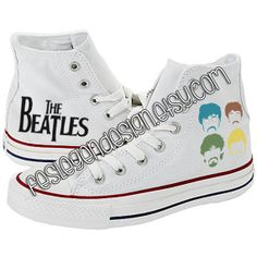 The Beatles Custom Converse / Painted Shoes by FeslegenDesign, $64.90 #TheBeatles €CustomConverse #PaintedShoes
