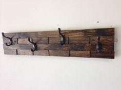 Kids room wall decor entryway storage coat rack hanger rustic wood 4 hooks or 5 furniture . Hanging Coat Rack, Diy Coat Rack, Rustic Coat Rack, Coat Racks, Coat Hanger, Coat Hooks Hallway, Coat Hooks On Wall, Wall Mounted Coat Rack, Entryway Wall Decor