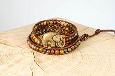 "Armband ""Africa"" Bronze, Fair Trade, Africa, Bracelets, Jewelry, Fashion, Rhinestones, Beads, Wristlets"