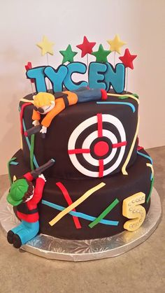Laser tag theme cake More