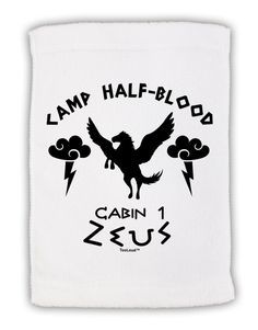 """Camp Half Blood Cabin 1 Zeus Micro Terry Sport Towel 11""""x18 by TooLoud"""