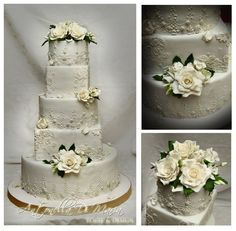 pearl grey with romantic lace, roses and glam
