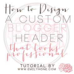 Blog header DIY - this might solve my dilemma!