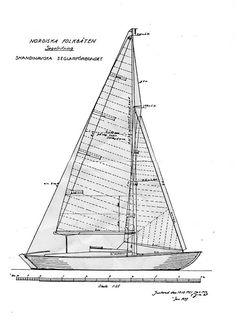 Tord Sunden's Nordic Folkboat is a sailing legend. She was one of the few items of exceptional merit to emerge from the horror years of Wooden Boat Building, Boat Plans, Wooden Boats, Sailing Ships, Sail Boats, Rhodes, Yachts, Boating, West Coast