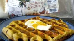 These coconut flour waffles are made with coconut flour and eggs for a protein pack and healthy breakfast. Low carb and grain free.