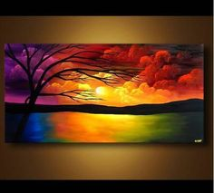 THIS CANVAS IDEA SHOWCASES VIBRANT COLORS AND A CALMING SCENE