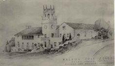 Architectural drawing for Malaga Cove School, Palos Verdes Estates, California by Palos Verdes Local History, via Flickr