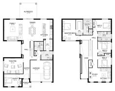 Melody 40 - Double Level - Floorplan by Kurmond Homes - New Home Builders Sydney NSW