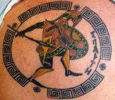 Ancient Greek Mythology Tattoo Designs | Pin Pin Greek Warrior Achilleas Photo Tattoo Art Troy On Pinterest on ...