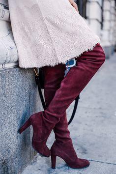 @stuartweitzman HIGHLAND boots in burgundy