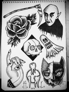 cat Halloween eye hand tattoo skull rose vampire flash tattoo flash Nosferatu tooth andrecast coviltattoo