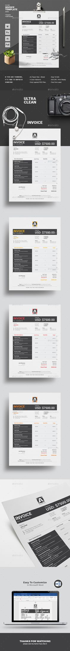 A huge set of Printable Business Templates including Invoice - ms word proposal template