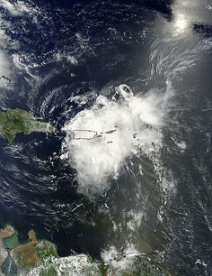 hurricane bertha over Puerto Rico