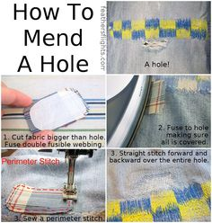 82 Best Invisible Mending images in 2019 | Sewing hacks