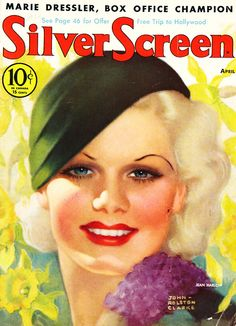 Jean Harlow on the cover of Silver Screen Magazine, 1933