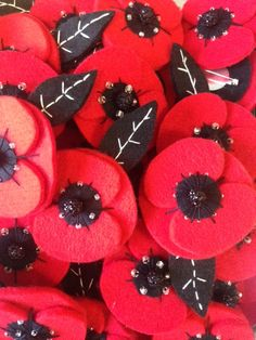 Sunday November is Remembrance Sunday. To honour this day we have been making these beautiful poppy brooches available at Rosie's. Poppy Brooches, Remembrance Sunday, Craft Shop, Poppies, November, How To Make, Cards, Handmade, Gifts