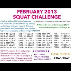 #squat it out! #february #challenge #tiasquat #fit #workout #gym #fitness #work #shapethatbum #summer2013