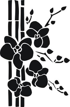 Stencil Schablone Bambus mit Orchidee Stencil Schablone Bambus mit Orchidee The post Stencil Schablone Bambus mit Orchidee appeared first on Ruby Sanders. Stencil Templates, Stencil Patterns, Stencil Painting, Stencil Designs, Fabric Painting, Dragon Silhouette, Wolf Silhouette, Decoupage Vintage, Silhouette Design