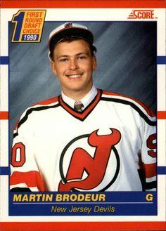 1990 Score Martin Brodeur Hockey Card for sale online Nhl, Hockey Cards, Baseball Cards, Canadian Hockey Players, Martin Brodeur, Griffey Jr, American Version, Goalie Mask, Bo Jackson