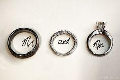 Photo - Mr. and Mrs. rings wedding jewelry rings bride groom