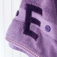 Custom Towel-- easy and helps with that laundry problem...maybe