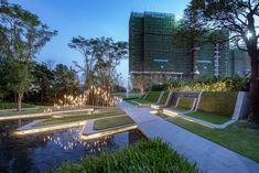 保利天寰花园 / 澳大利亚IAPA设计顾问有限公司 Entrance Gates, Main Entrance, Landscape Elements, Landscape Design, Light Architecture, Landscape Architecture, Festival Plaza, Different Types Of Coffee, Building Structure
