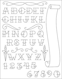 ... tattoo alphabet