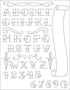 Tattoo Artist Enrique Castillo Alphabet List Photo 21