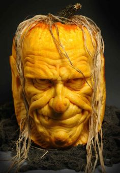 Pumpkin Art: Ray Villafane allows us to bring you these awesome pumpkin carvings to help inspire when you break out the knife for this year's Halloween.