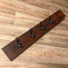 Hat Rack Ideas - Rather of throwing your hats in the corner of the coat closet, build yourself a hat rack to organize and show them nicely. Woodworking Dust Mask, Woodworking Bench For Sale, Used Woodworking Tools, Woodworking Equipment, Woodworking Store, Woodworking Joints, Custom Woodworking, Woodworking Plans, Woodworking Classes