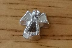1 - Angel with Rhinestone Charm - Floating Heart - Floating Locket - Floating Pendant - Memory Heart - Memory Pendant -Memory Locket-Jewelry by GailsGiftHut on Etsy