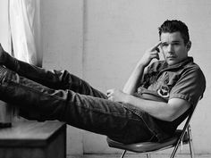 Ethan Hawke photographed by Bruno Staub for The Happy Reader.