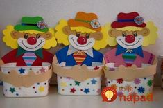 See related links to what you are looking for. Kids Crafts, Clown Crafts, Carnival Crafts, Diy And Crafts, Birthday Party For Teens, Circus Birthday, Circus Theme, Circus Party, Clown Party