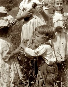 Fotograaf: Gertrude Kasebier / Happy Days 1902