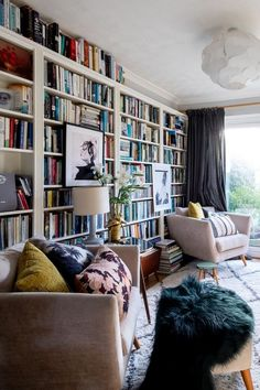 Home Library Rooms, Home Library Design, Home Libraries, Home Office Design, House Design, Dream Library, Design Desk, Apartment Therapy, Studio House