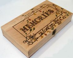 Pyrography memories keepsake box £19.00