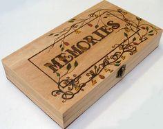 Pyrography memories keepsake box £19.00