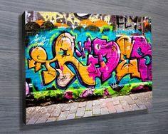 Graffiti Wall Art Prints & Street Art Canvas Picture Wall Artwork Home Decor. Choose from Urban Art Murals Prints from street artists around the globe Canvas Picture Walls, Canvas Pictures, Photo Canvas, Canvas Art, Graffiti Wall Art, Banksy Art, Canvas Prints Australia, Banksy Prints, Wall Art Designs