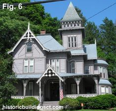 An example of a more flamboyant Queen Anne house with Stick elements is the 1885 Cyrus Winchell House in Rockville (Fig. 6)