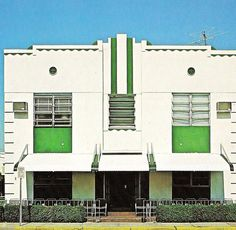 1420 Collins Avenue, Miami Beach, FloridaFrom Tropical Deco    An apartment building, I think. The caption provided to me says 1923 but I think it must be 1933.    From the book:      1420 Collins Avenue (E.G. Cobelli, 1923.)      Here it is Google Street View.