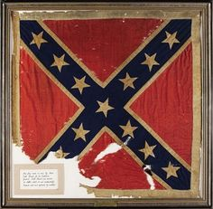 The top 10 most expensive... American Civil War memorabilia. This is the Personal Battle Flag of  Confederate General J.E.B. Stuart which sold for $956,000 in 2007. Click the picture to see the full list.