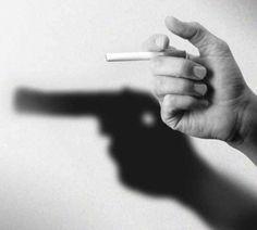 Cigarette with A Gun Shadow   Travis Garland