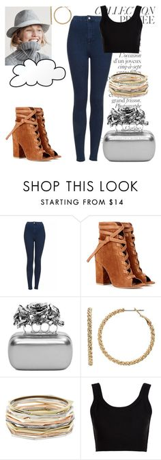 """""""Lucky Charm"""" by black-wings ❤ liked on Polyvore featuring J.Crew, By Terry, Topshop, Gianvito Rossi, Alexander McQueen, Juicy Couture, Kendra Scott and Calvin Klein Collection"""