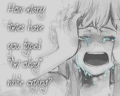 Sad quote anime tears cry