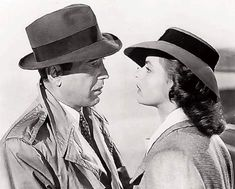 Humphrey Bogart and Ingrid Bergman; Casablanca, 1942