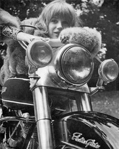 the girl on the motorcycle